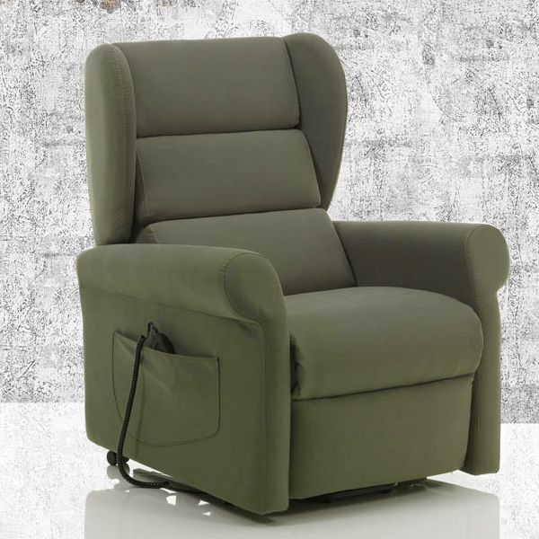 Electric and adjustable relax armchair with Long Relax System mechanism and Roller System, different upholsteries and colours available, totally removable covering (on request: massage kit)