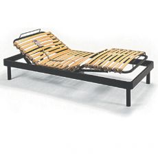Superflex - Electric metal rest, wooden slats with flexible caps, available in several sizes