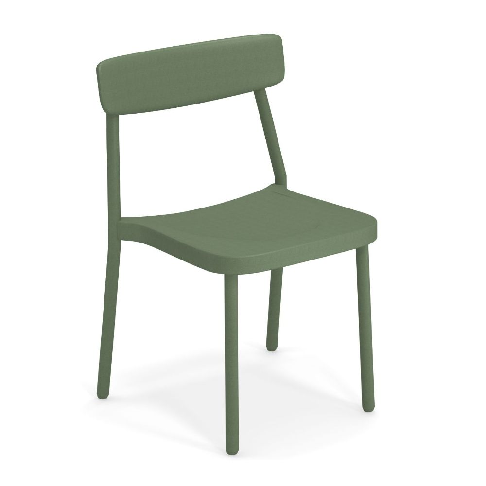 Stackable chair in militar green colour