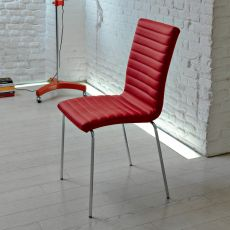 Krono - Midj stackable metal chair, different upholsteries available