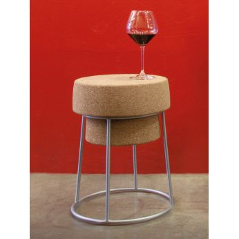 Bouchon B - Stool made of metal and cork