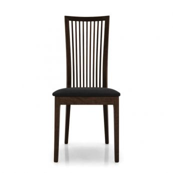 CB1060 Philadelphia Outlet - Chair in beech wengè colour, seat covered with black fabric