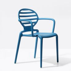 Cokka P 2280 - Technopolymer armchair, stackable, also for outdoor