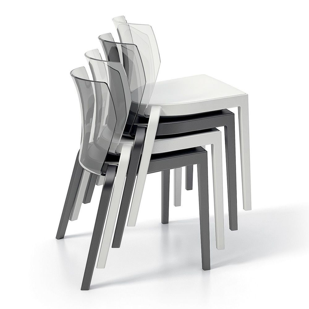 Stackable chair, available in different colours