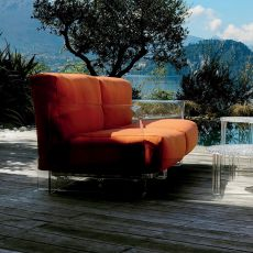 Pop Outdoor Sofa - Design sofa Kartell, for outdoor, 2 or 3 seating, with polycarbonate frame, with fabric upholstery