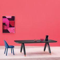 Basilio - Miniforms table in wood, available in different dimensions