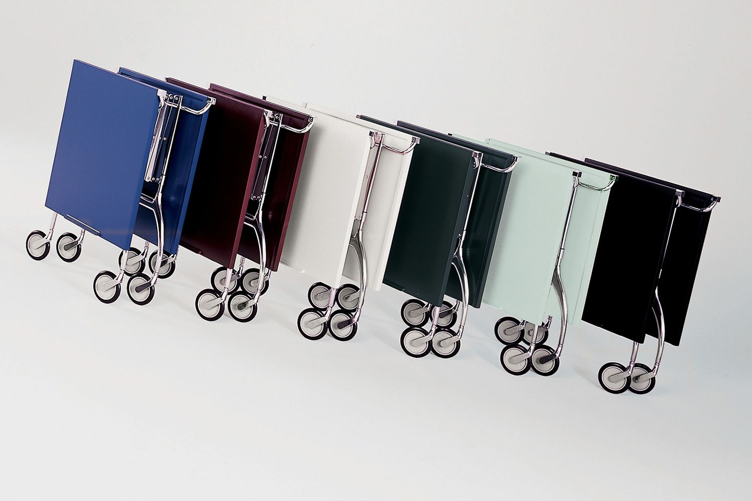 Kartell folding trolleys in several colours