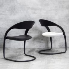 Clou soft touch - Tonon metal chair, with polyurethane or padded seat