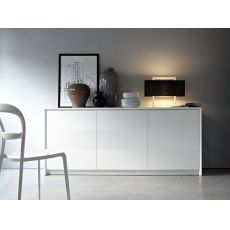 CB6031-2 Password - Mobile - credenza Connubia - Calligaris in legno laccato, tre ante, 185 x 52 cm