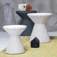 Bolla 12-13 - Gervasoni side table, in rattan, available in different dimensions