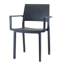 Kate 2340 - Technopolymer chair with armrests, stackable, available in several colours, for garden