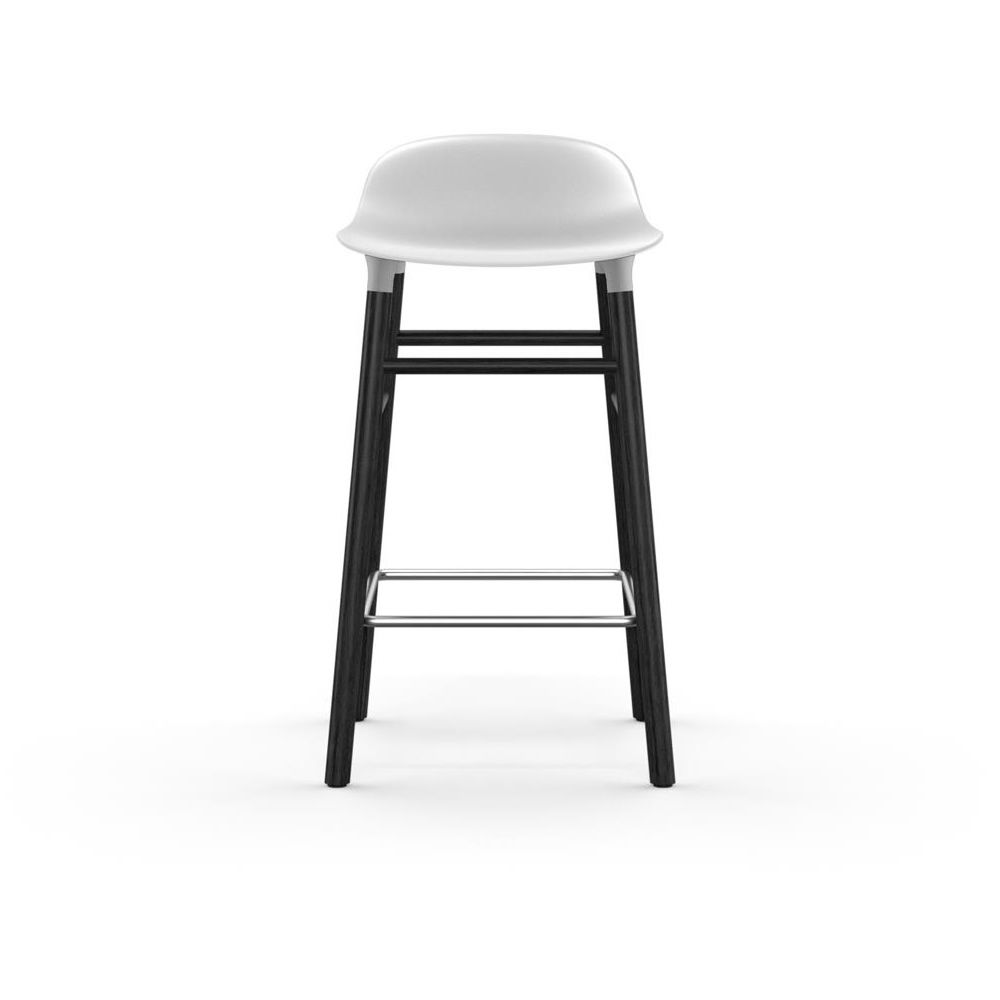Form-SGW Wood Black laquered Polypropylene seat white Seat Height 65 cm