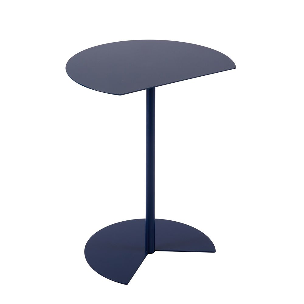 Dark blue round small table