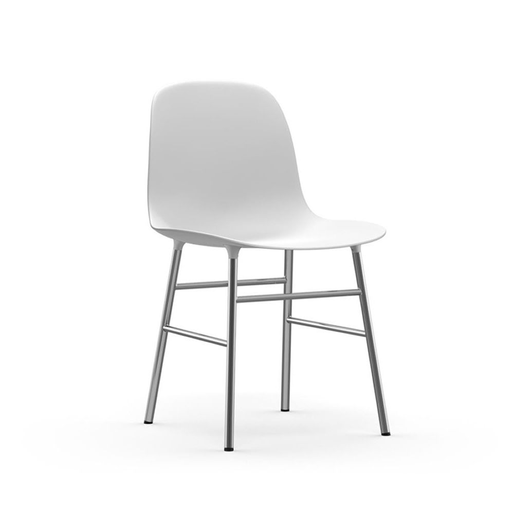 Form Structure Chromed Polypropylene seat white