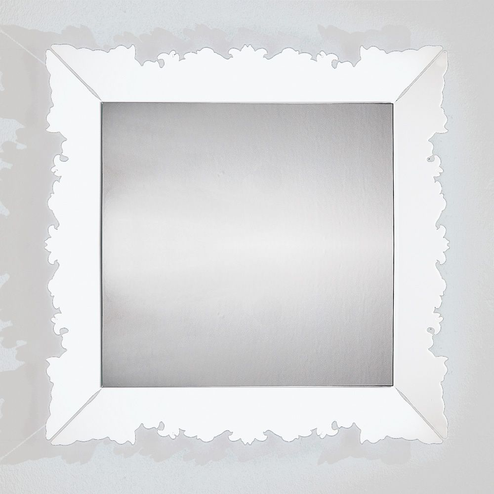 Mirror in white methacrylate