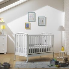 Ciak - Pali wooden cot with drawer, bed slat base adjustable in height