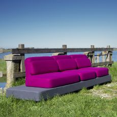 Quid - Design sofa by Adrenalina, 3 places, different coverings available