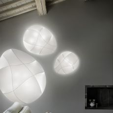 Millo - Designer ceiling or wall lamp, in metal and fabric, available in different sizes