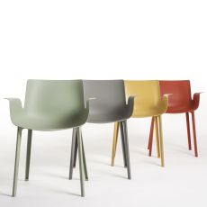 Piuma - Kartell design chair in technopolymer, available in several colours, also for garden
