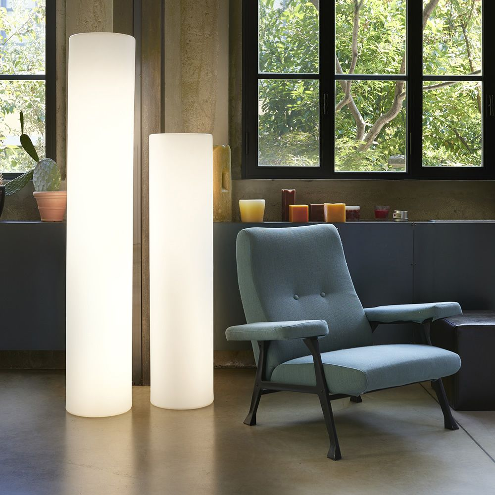 Polyethylene floor lamps, different heights