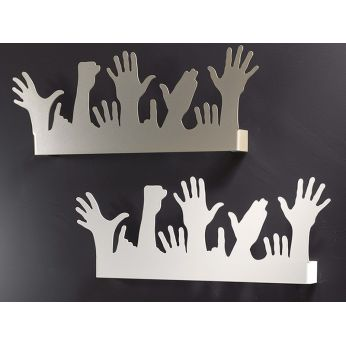 People - Coat racks in champagne or white varnished iron