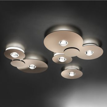 Bugia - Ceiling lamp made of metal and plexiglass in glossy copper colour, different sizes available