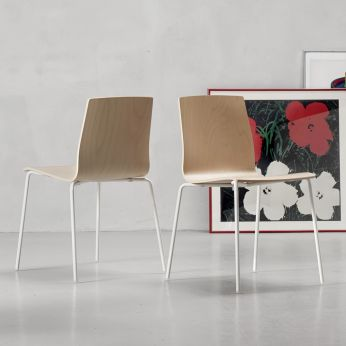 Alice Wood 2845 - Chair with white painted frame