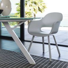 Circle - P - Chair in aluminium and ABS, also for garden