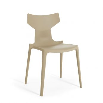 Re-Chair - Grey dove-coloured recycled polypropylene chair