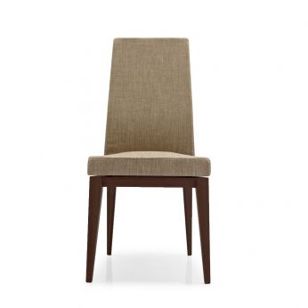 CS1294 Bess WB - Bess Chair by Calligaris, wengé structure and rope Brighton fabric
