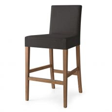 CB1464 Copenhagen - Connubia - Calligaris wooden stool, with fabric covering in several colours, seat height 65 cm