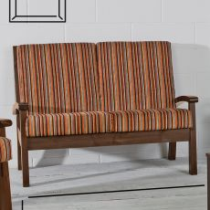 LAR7 Divano - Country stile wooden sofa with cushions, available in several colours
