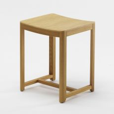 Seleri stool - Wooden stool, with padded or wooden seat, seat at 45 or 75 cm, available in several colours