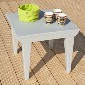 Bubble Club Table - Kartell design coffee table, for garden, in grey colour