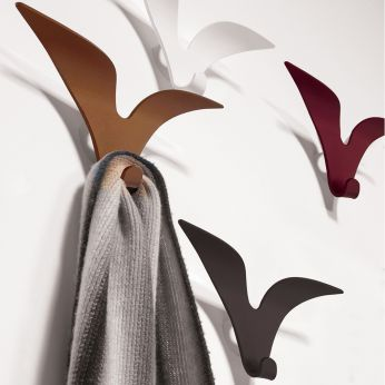 Jonathan - Wall coat-stand in varnished steel