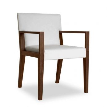 Euthalia P - Wooden chair with padded seat