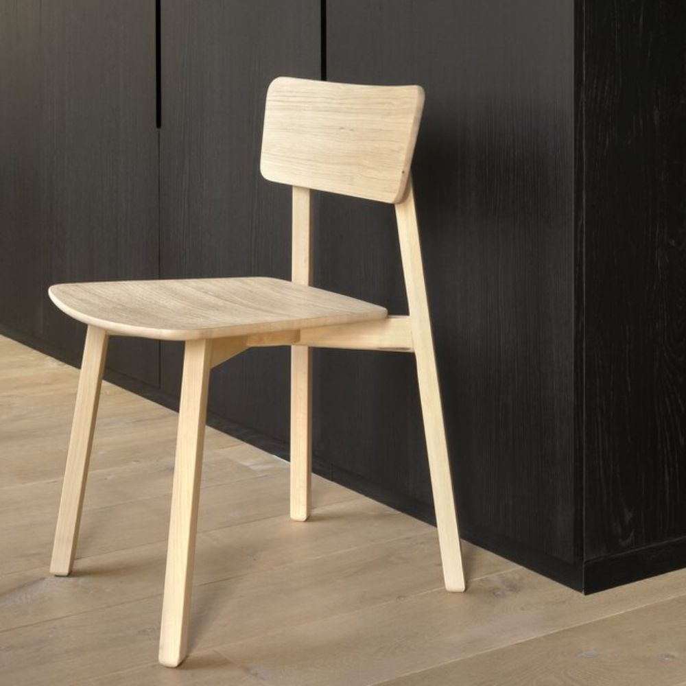 Ethnicraft chair in natural solid wood with hard wax oil finish