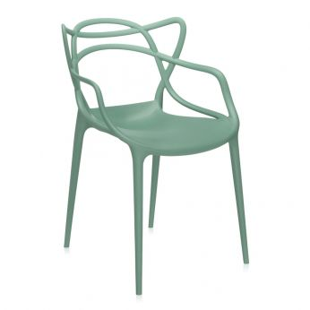 Masters - Kartell Chair design, green polypropylene