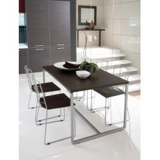 Fast - Domitalia table, metal structure and melamine top, 130 x 85 cm extendable