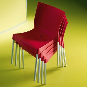 Diva Off - Stackable chair, red colour