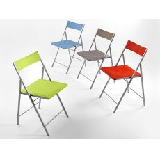 First - Folding chair in metal and polypropylene