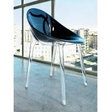 Mr. Impossible - Kartell design chair, transparent or full colour polycarbonate, also for garden