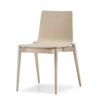 MALMÖ 390 - Design chair in whitened ash wood