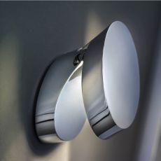Pin-Up - Designer wall lamp, adjustable, in metal, with LED light