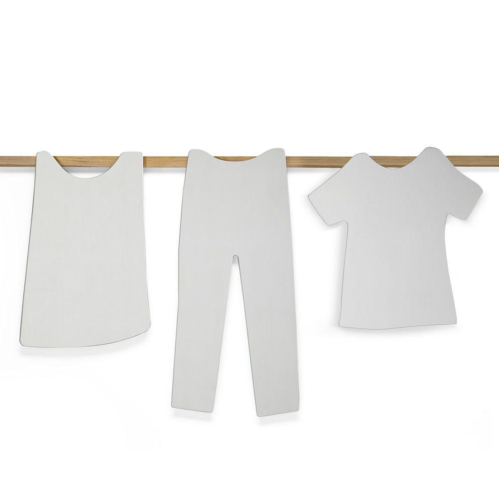 Wall mirror in T-shirt shape, matched with O Sole Mio-P and O Sole Mio-T mirrors
