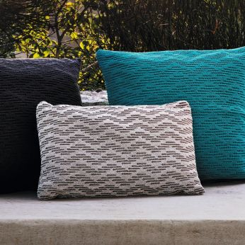 Wave Pillows S - Outdoor cushions size S, colour white + brown