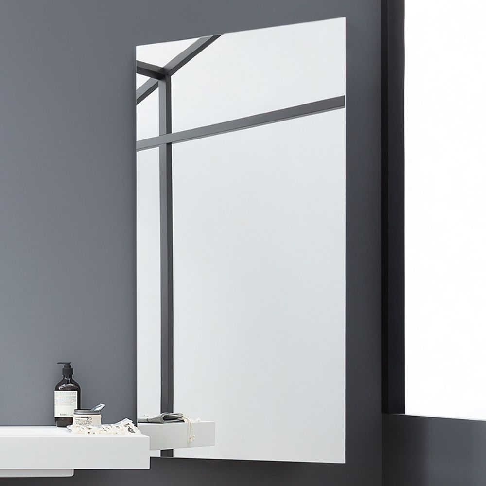 Modern mirror with right orientation, matching with 45 bath cabinet