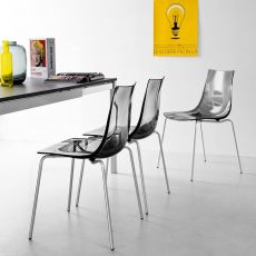 CB1298 Led - Connubia - Calligaris metal chair with technopolymer seat, also stackable