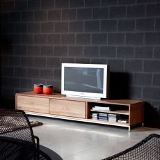 Essential-TV - Ethnicraft TV stand made of wood with drawers, different sizes available