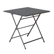 Cassis T - Folding table in metal, 76x76 cm, for garden